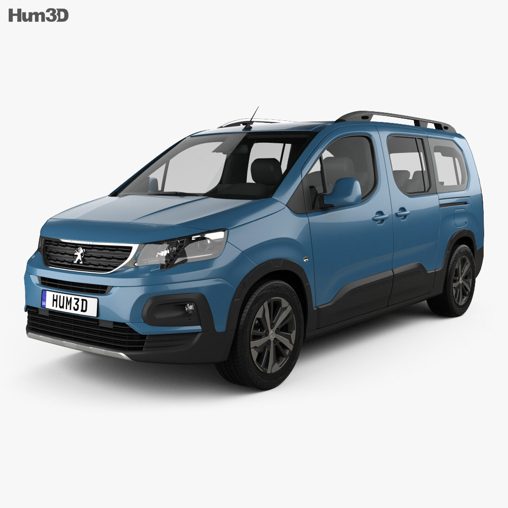 Discount Car Parts >> Peugeot Rifter Long 2018 3D model - Hum3D