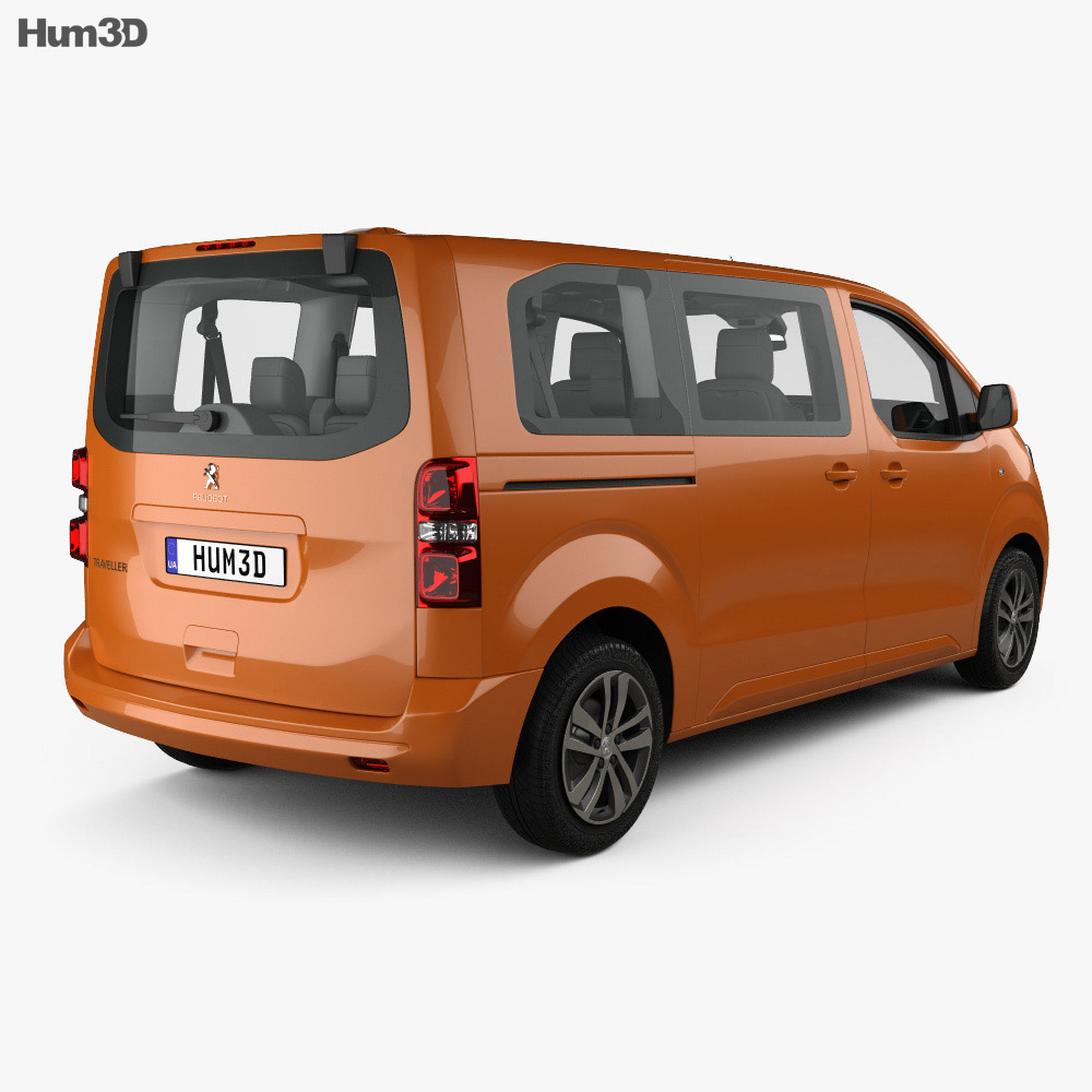 Peugeot Traveller Allure with HQ interior 2016 3d model back view