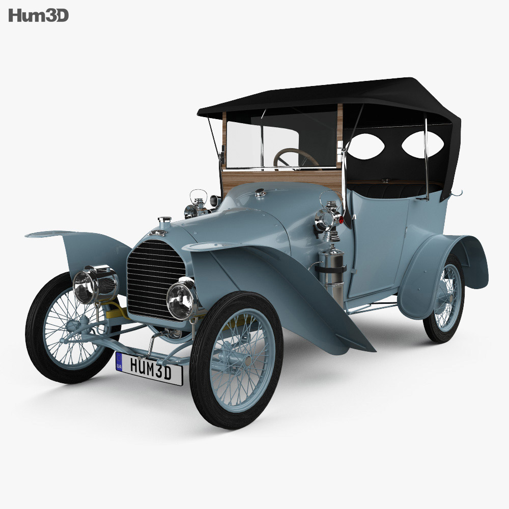 3D model of Peugeot Type BP1 Bebe 1913