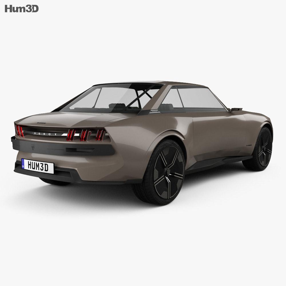 Peugeot e-Legend 2018 3d model