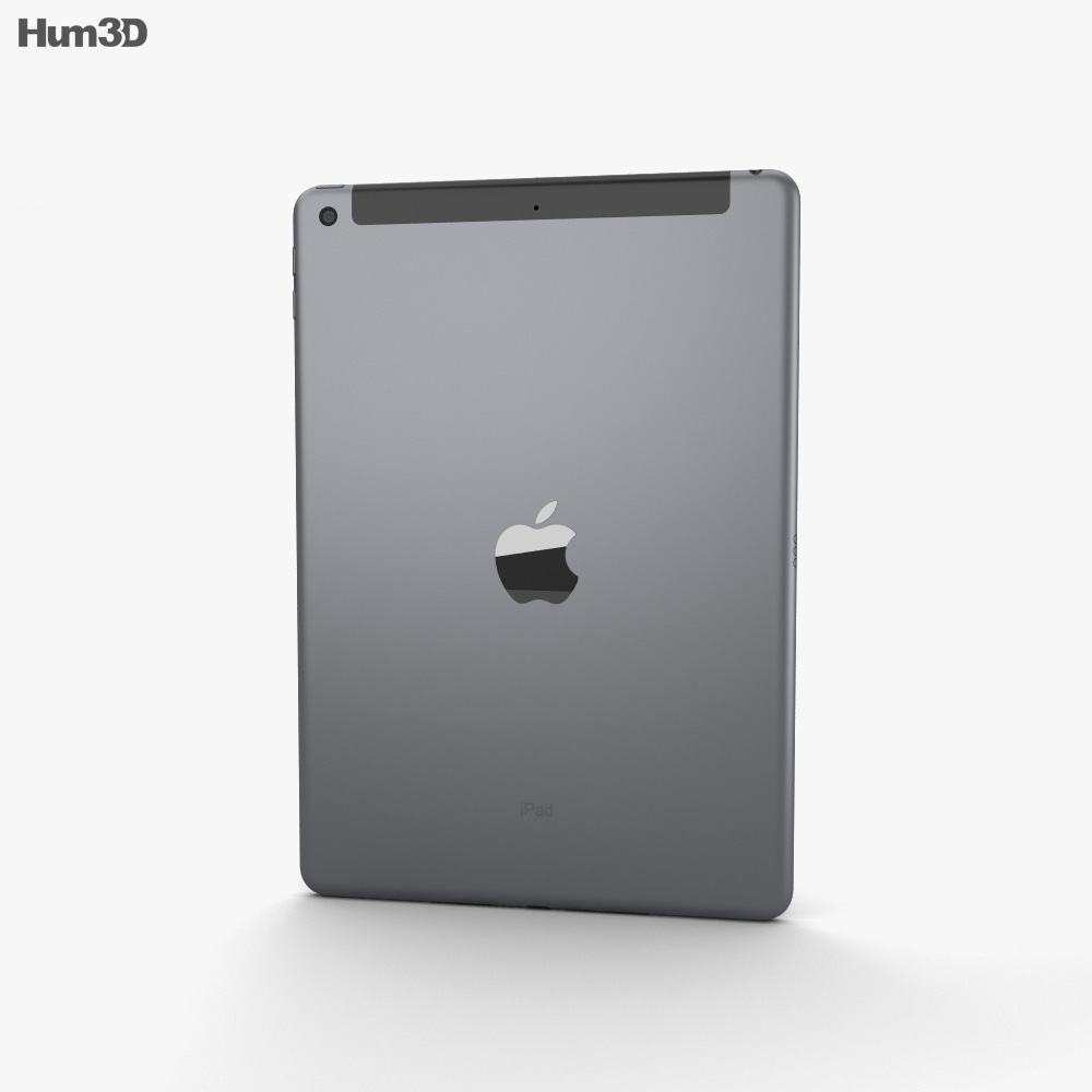 Apple iPad 10.2 Cellular Space Gray 3d model