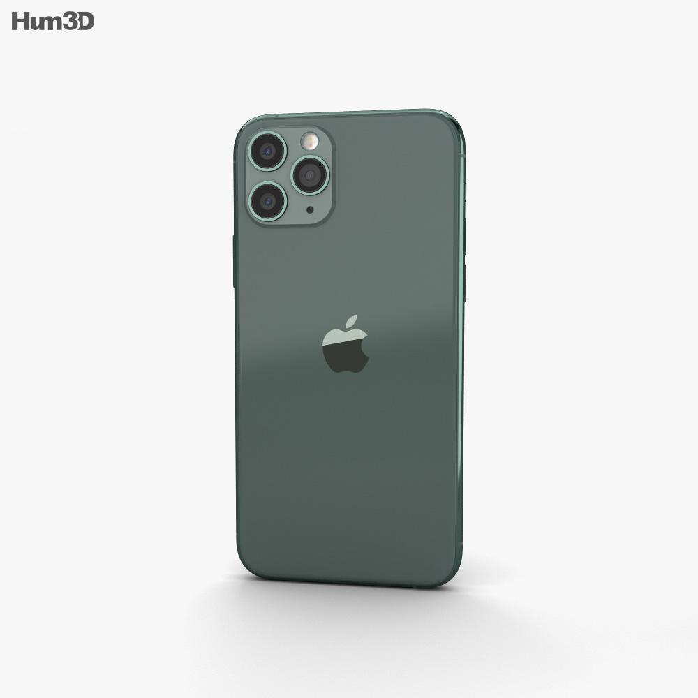 Apple iPhone 11 Pro Max Midnight Green 3d model
