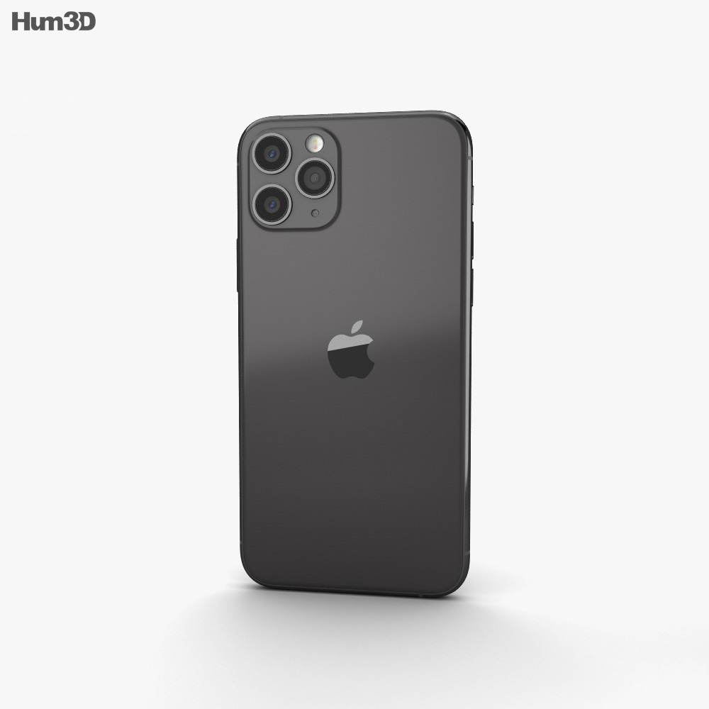 Apple iPhone 11 Pro Max Space Gray 3d model