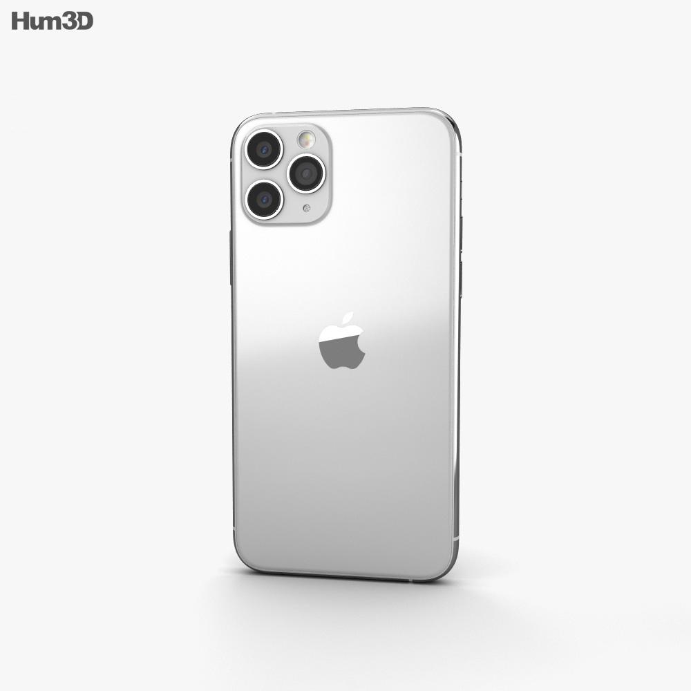Apple iPhone 11 Pro Silver 3d model