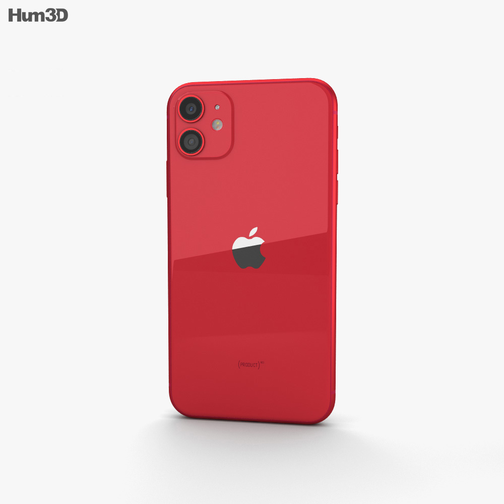 Apple iPhone 11 Red 3d model