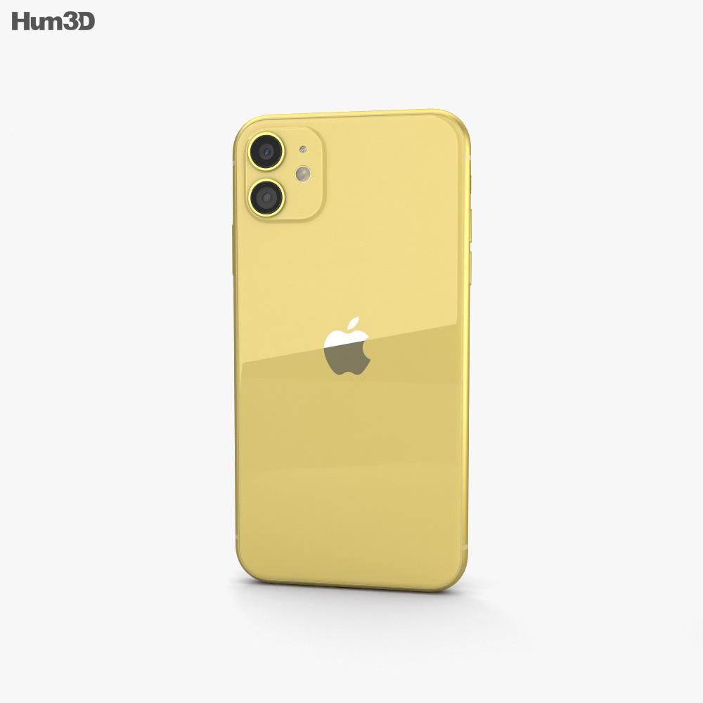 Apple iPhone 11 Yellow 3d model