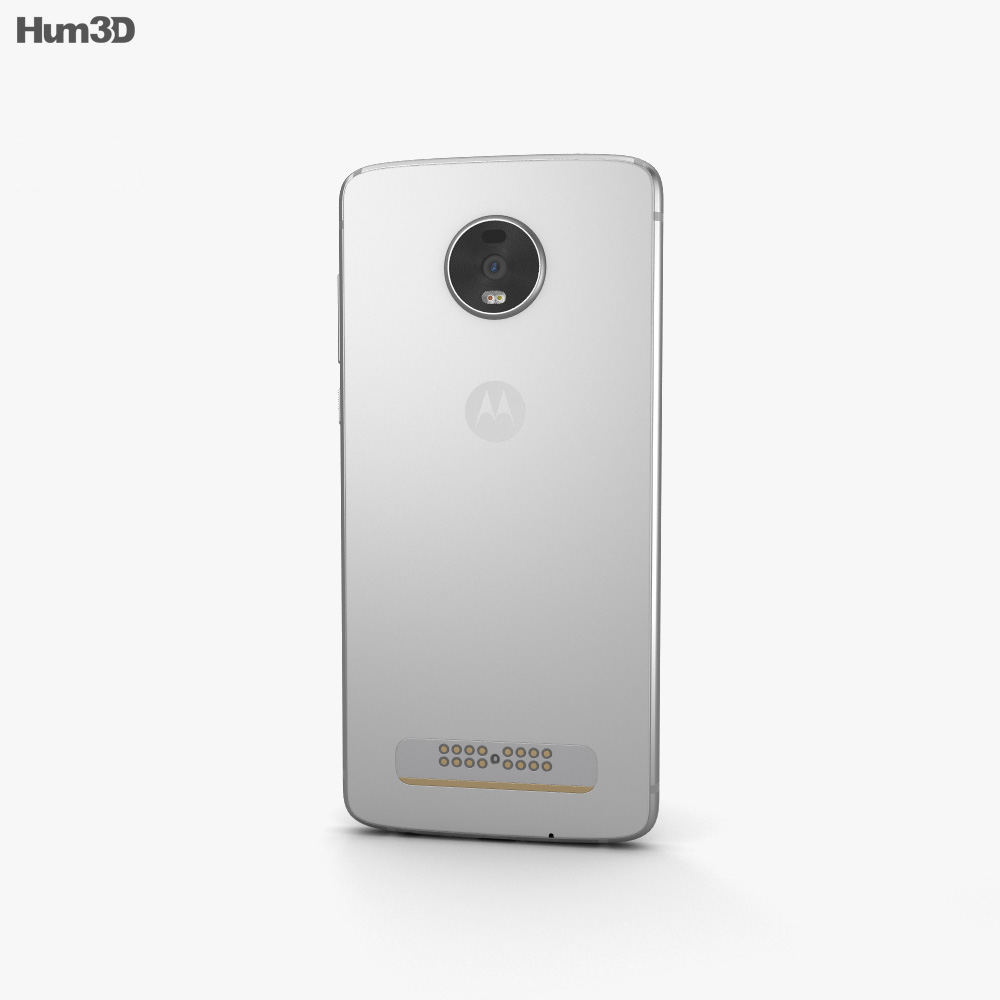 Motorola Moto Z4 Frost White 3d model
