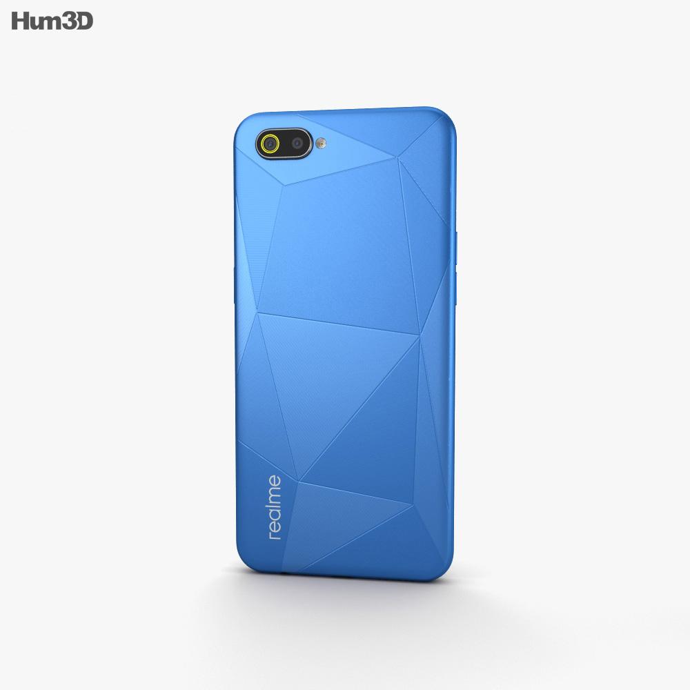 Realme C2 Diamond Blue 3d model