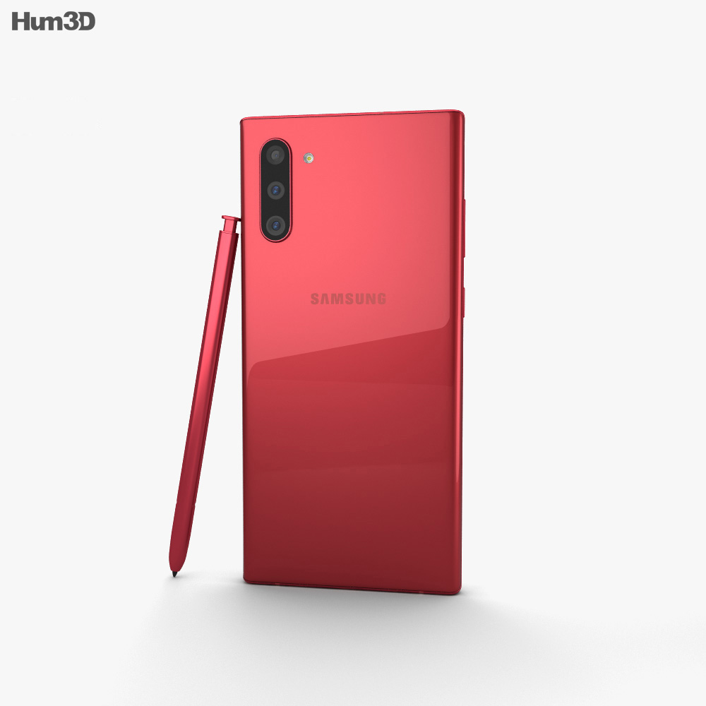 Samsung Galaxy Note10 Aura Red 3d model