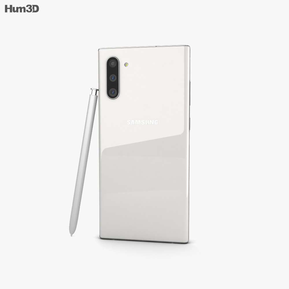 Samsung Galaxy Note10 Aura White 3d model