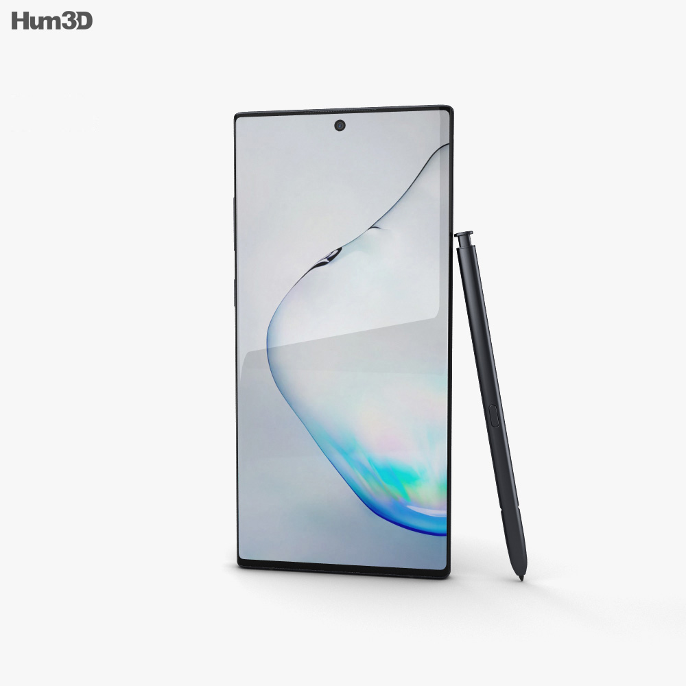 Samsung Galaxy Note10 Plus Aura Black 3d model