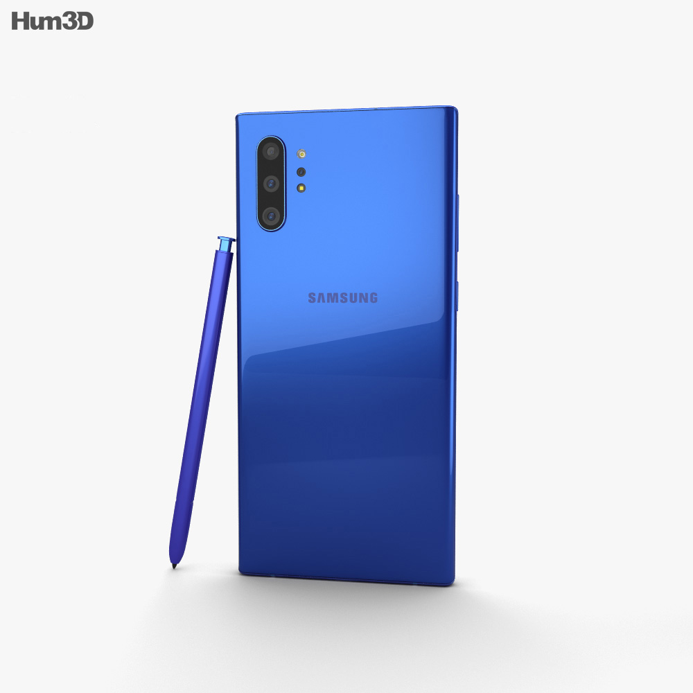 Samsung Galaxy Note10 Plus Aura Blue 3d model