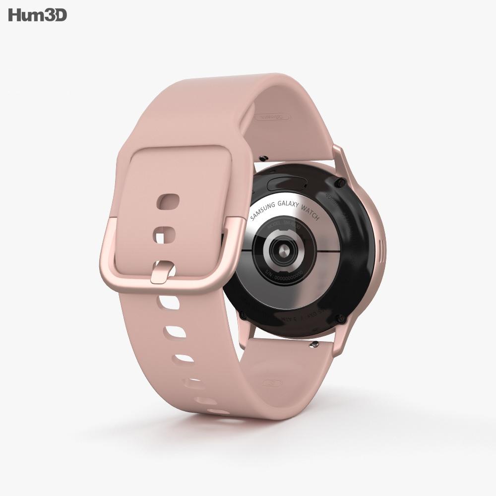 Samsung Galaxy Watch Active 2 40mm Aluminium Pink Gold 3d model