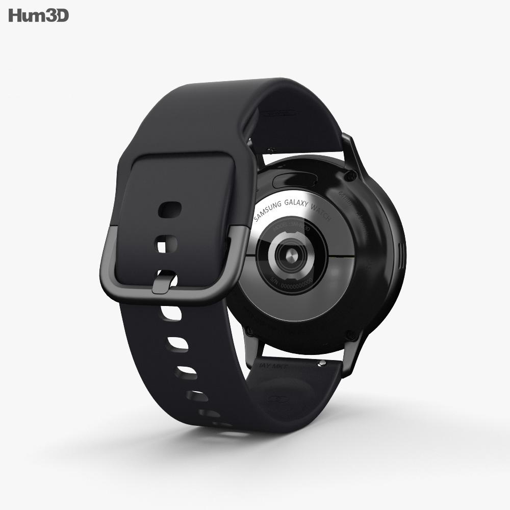 Samsung Galaxy Watch Active 2 44mm Aluminium Aqua Black 3d model