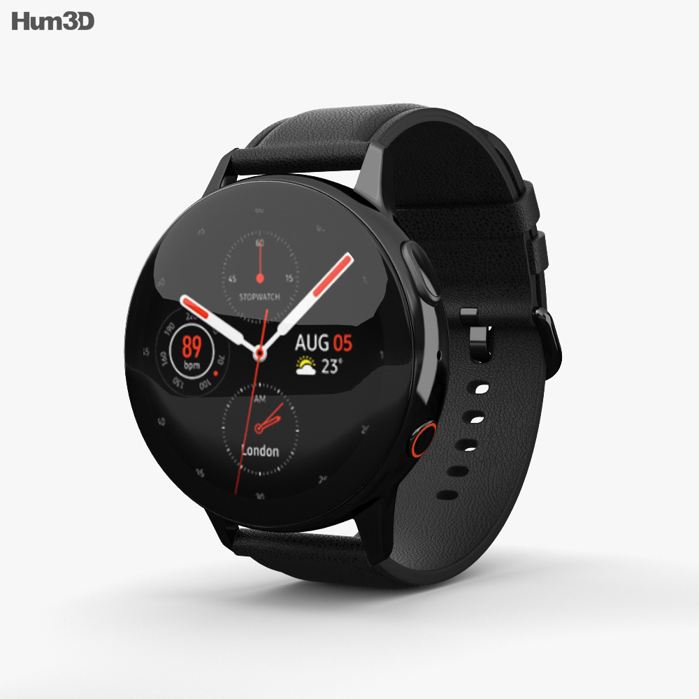 Samsung Galaxy Watch Active 2 44mm Stainless Steel Black 3d model
