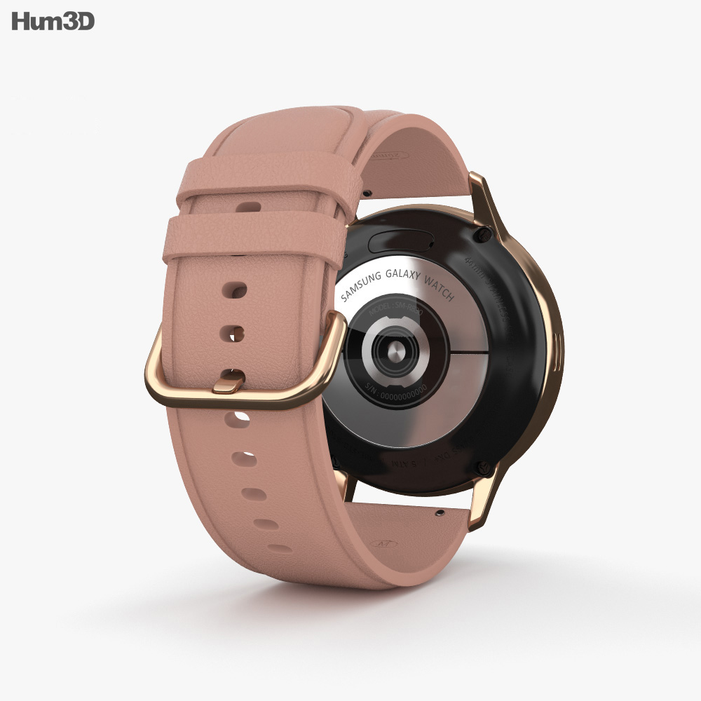 Samsung Galaxy Watch Active 2 44mm Stainless Steel Gold 3d model