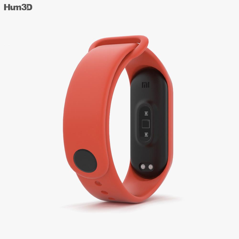Xiaomi Mi Band 4 Hot Orange 3d model