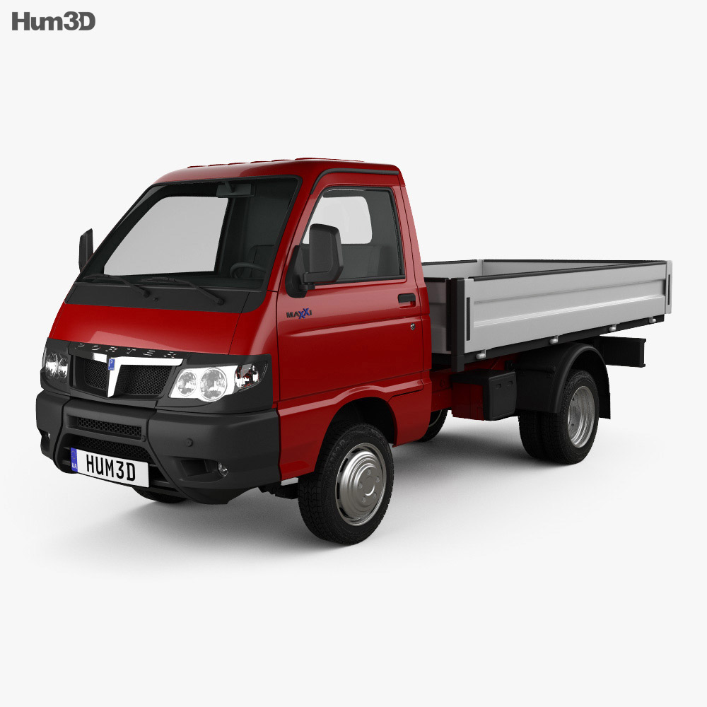 3D model of Piaggio Porter Maxxi Tipper 2009