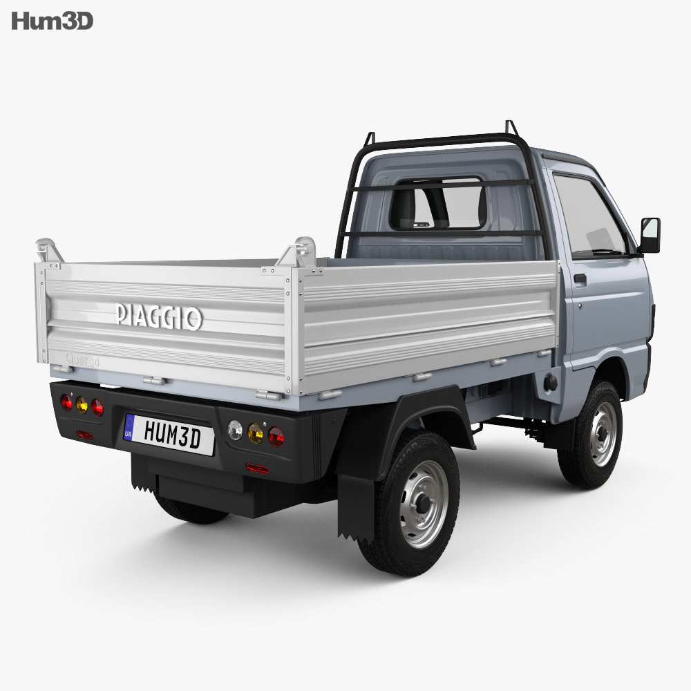 Piaggio Quargo Tipper 2007 3d model