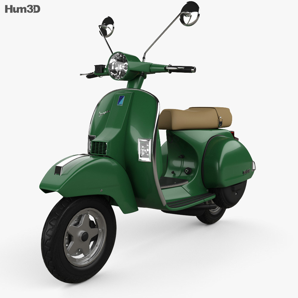 piaggio vespa px 125 2012 3d model vehicles on hum3d. Black Bedroom Furniture Sets. Home Design Ideas