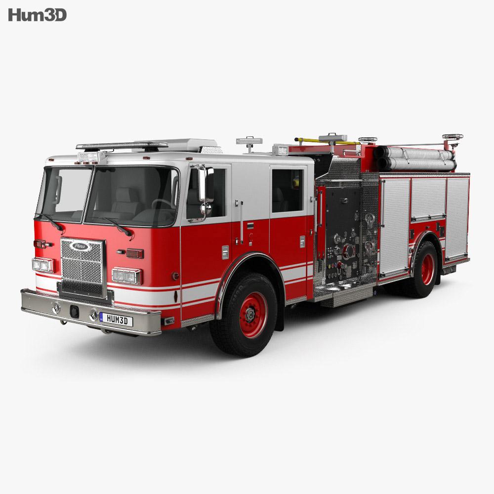 Pierce Fire Truck Pumper 2011 3D model