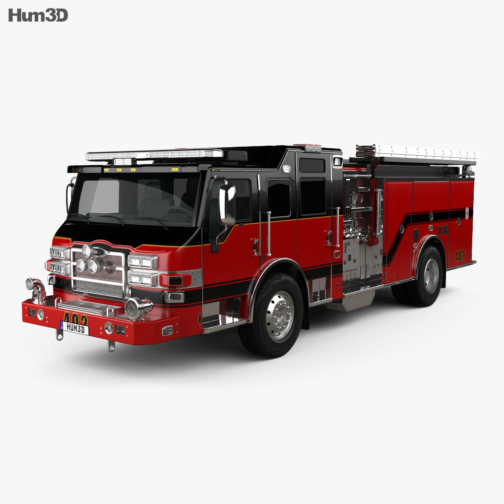 Pierce E402 Pumper Fire Truck 2014 3d model