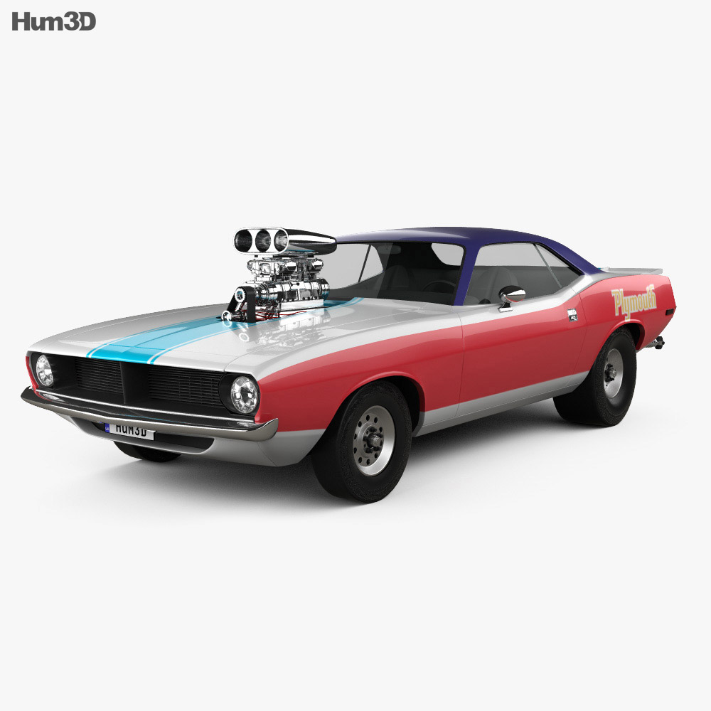 Plymouth Barracuda Dragster 1974 3d model