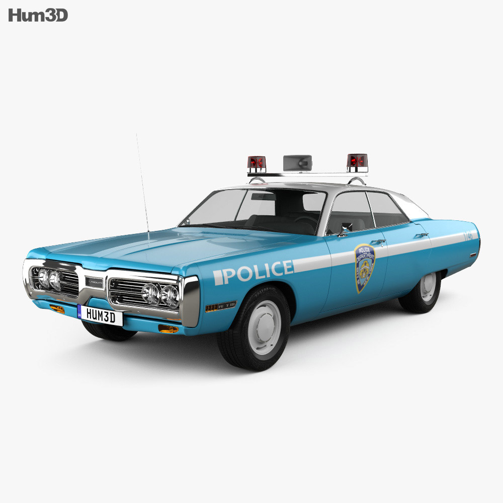 3D model of Plymouth Fury Police 1972