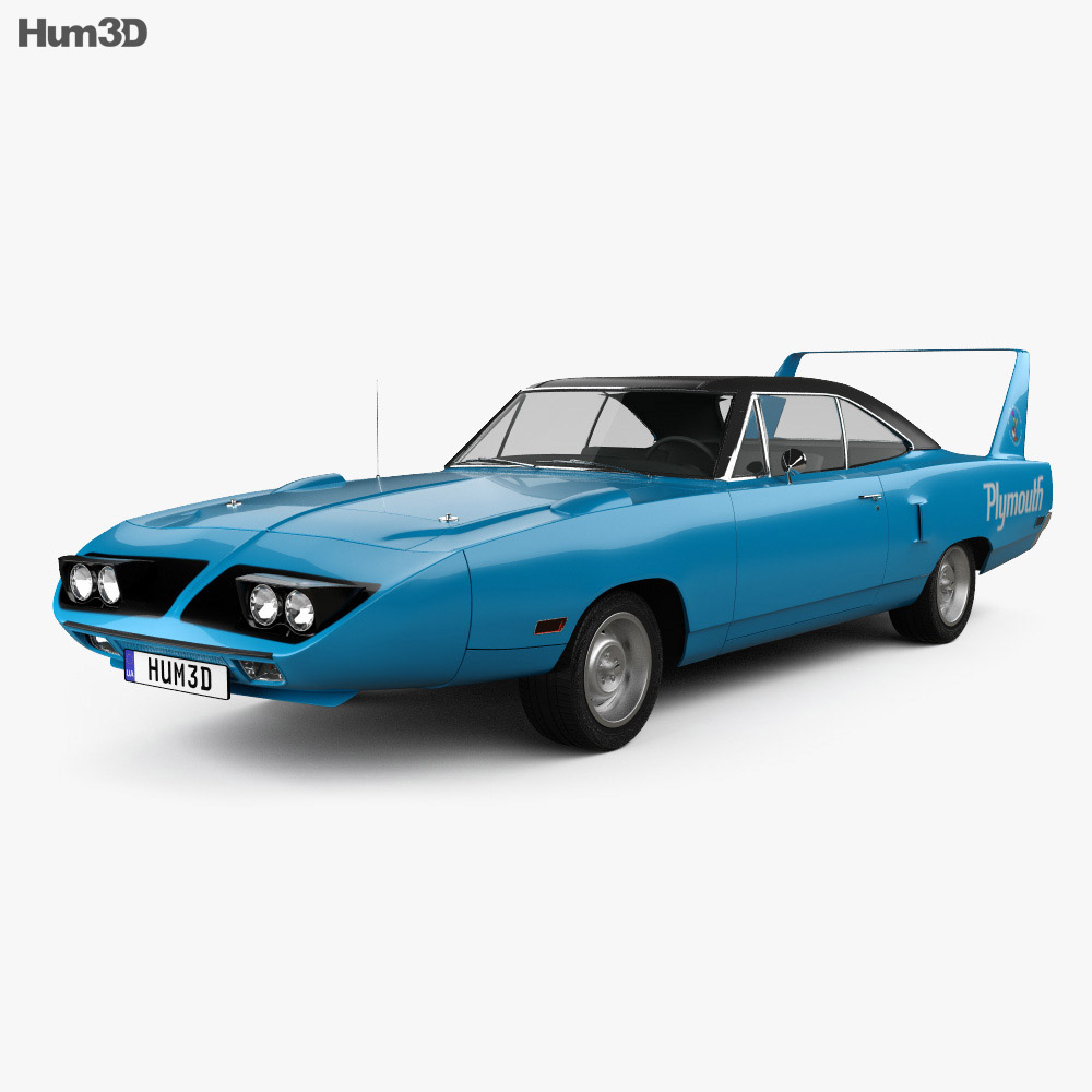 Plymouth Road Runner Superbird 1970 3d model