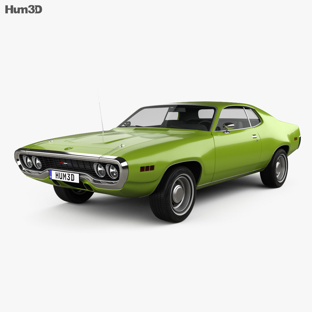 Plymouth Satellite 1971 3d model