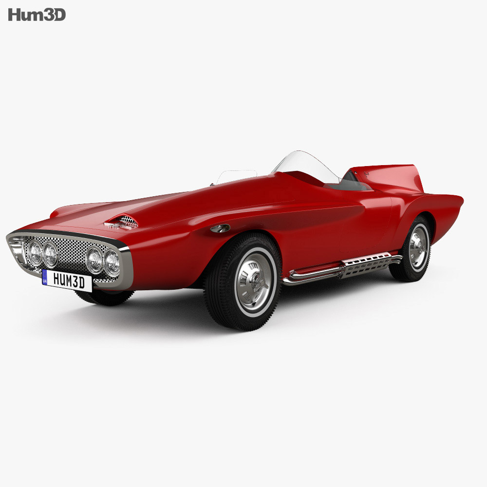 Plymouth XNR 1960 3d model