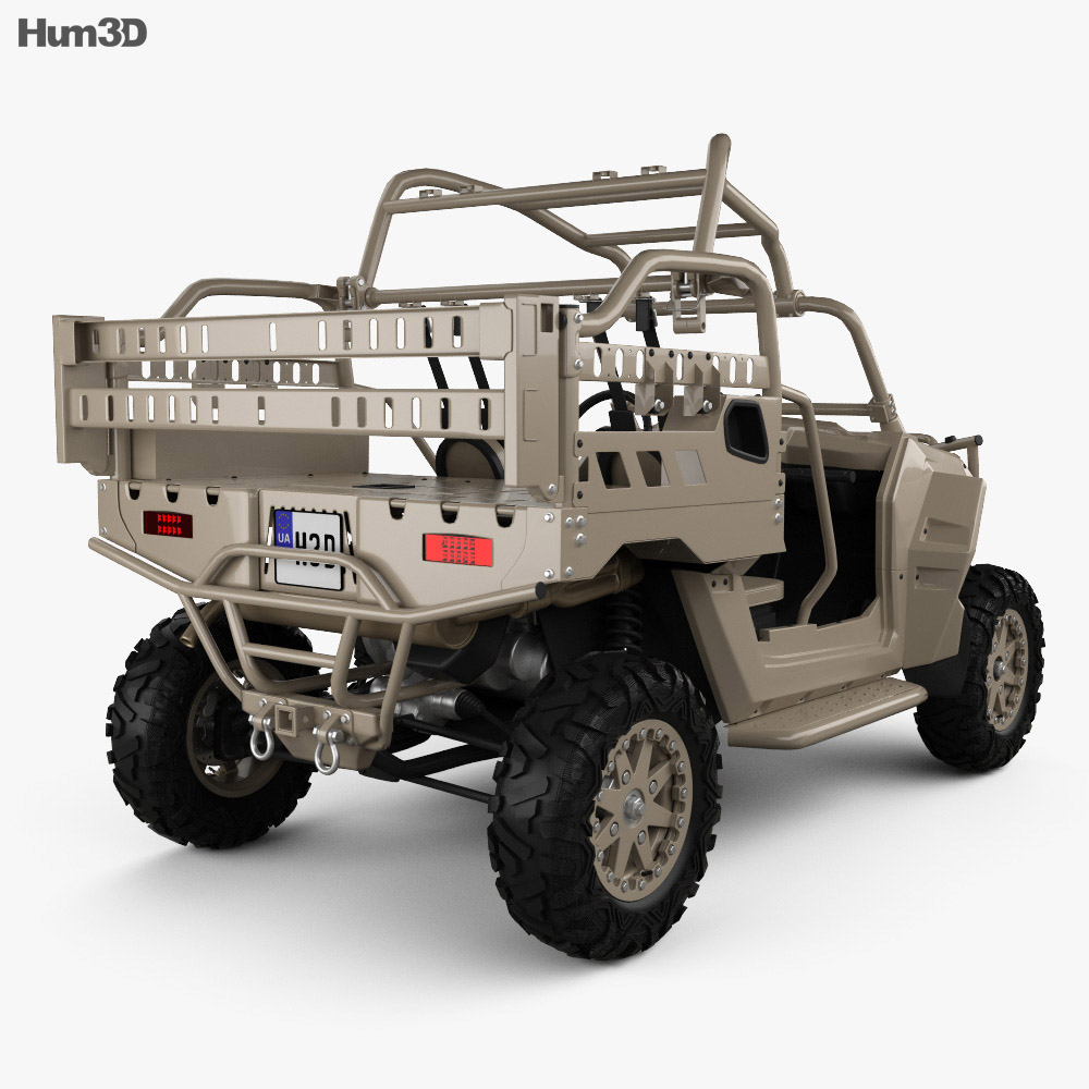 Polaris MRZR 2 Military Tan 2016 3d model