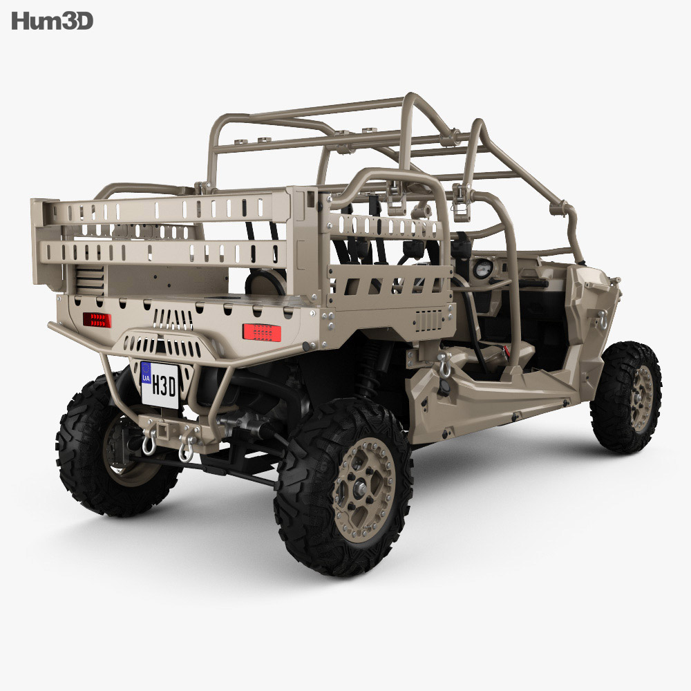 Polaris MRZR D4 Military Tan 2016 3d model
