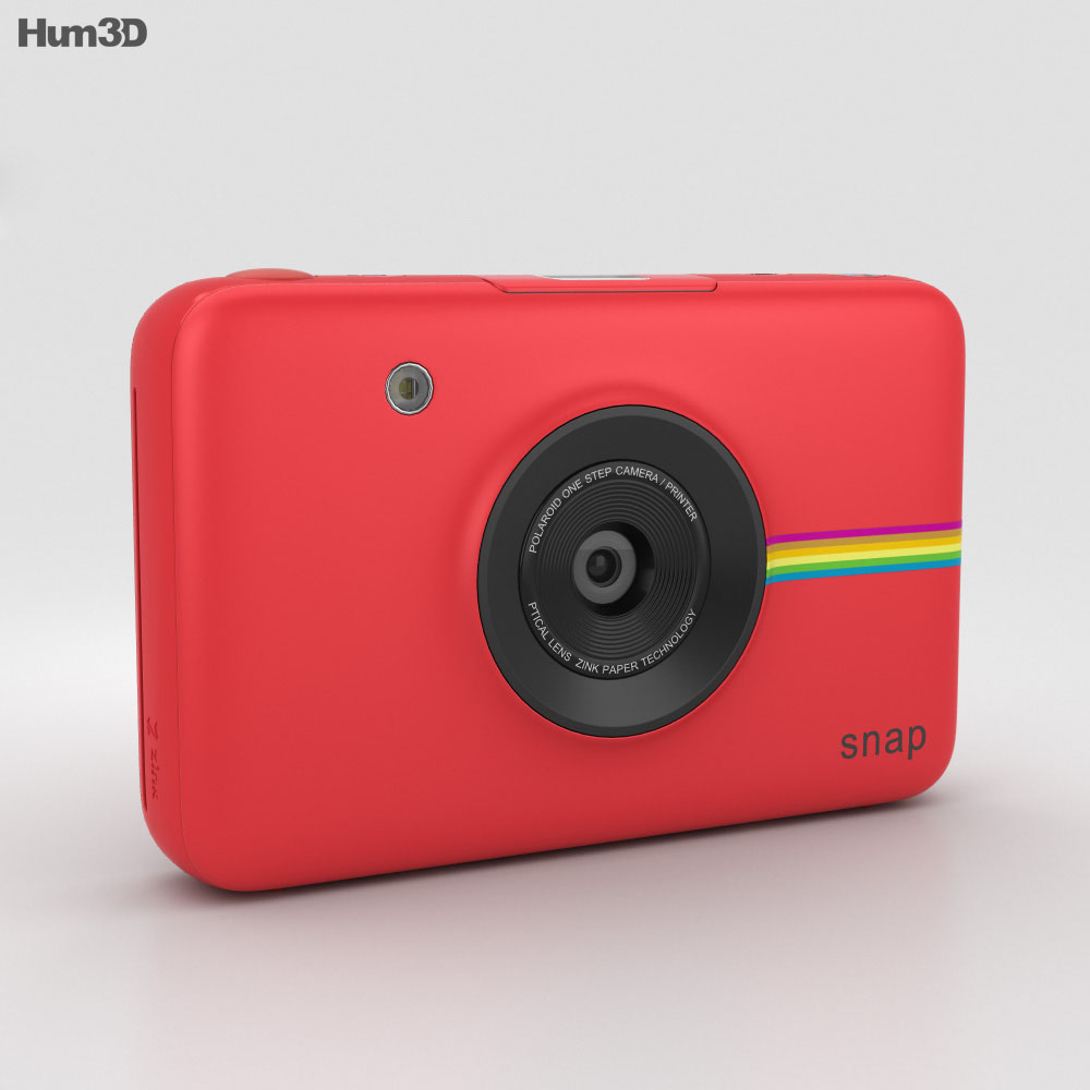 Polaroid Snap Instant Digital Camera Red 3d model