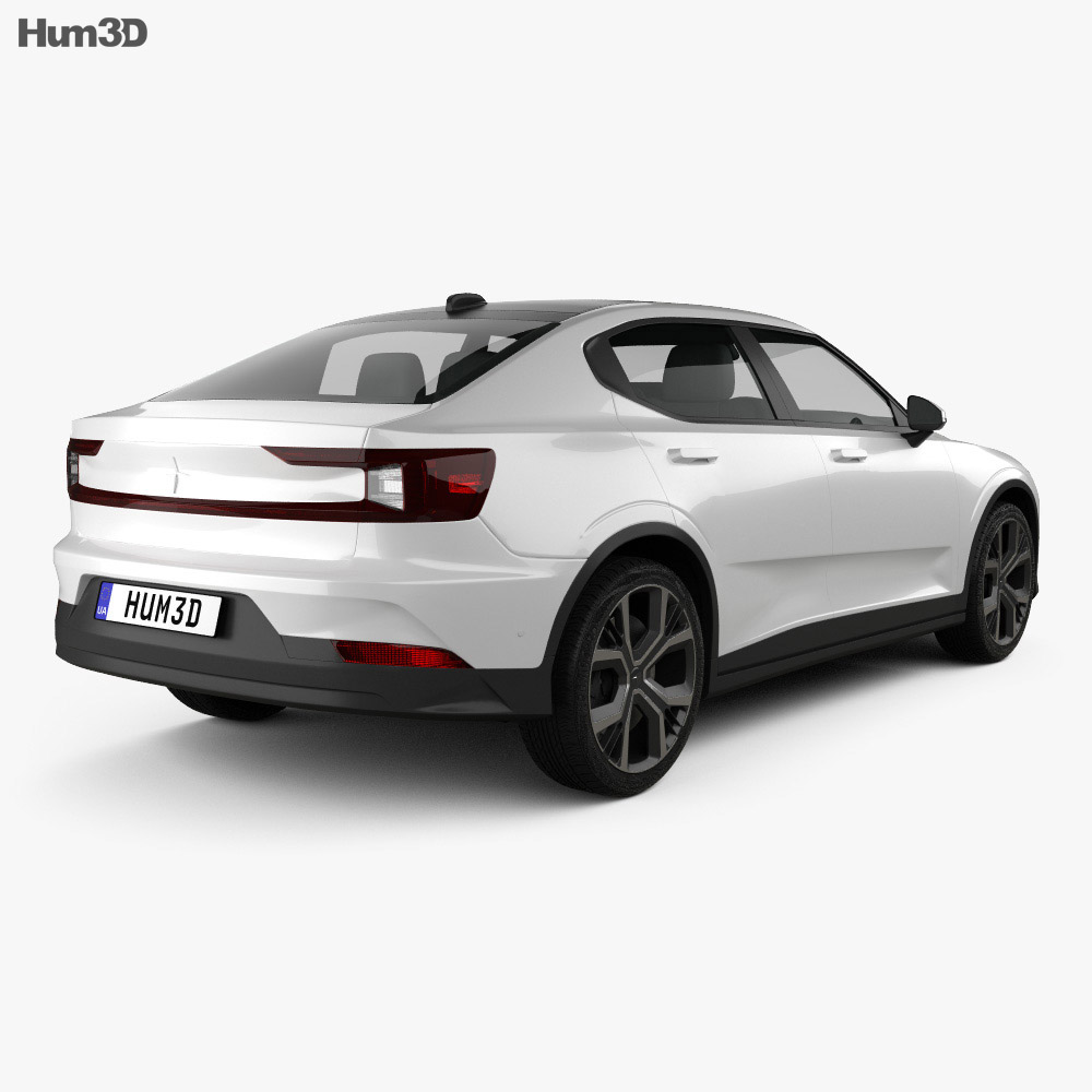 Polestar 2 2019 3d model