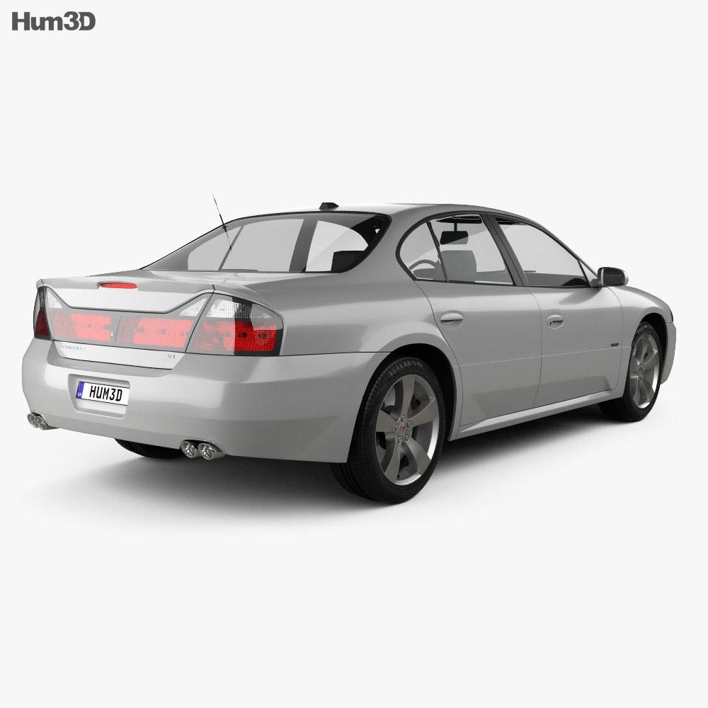 Pontiac Bonneville GXP 2004 3d model back view