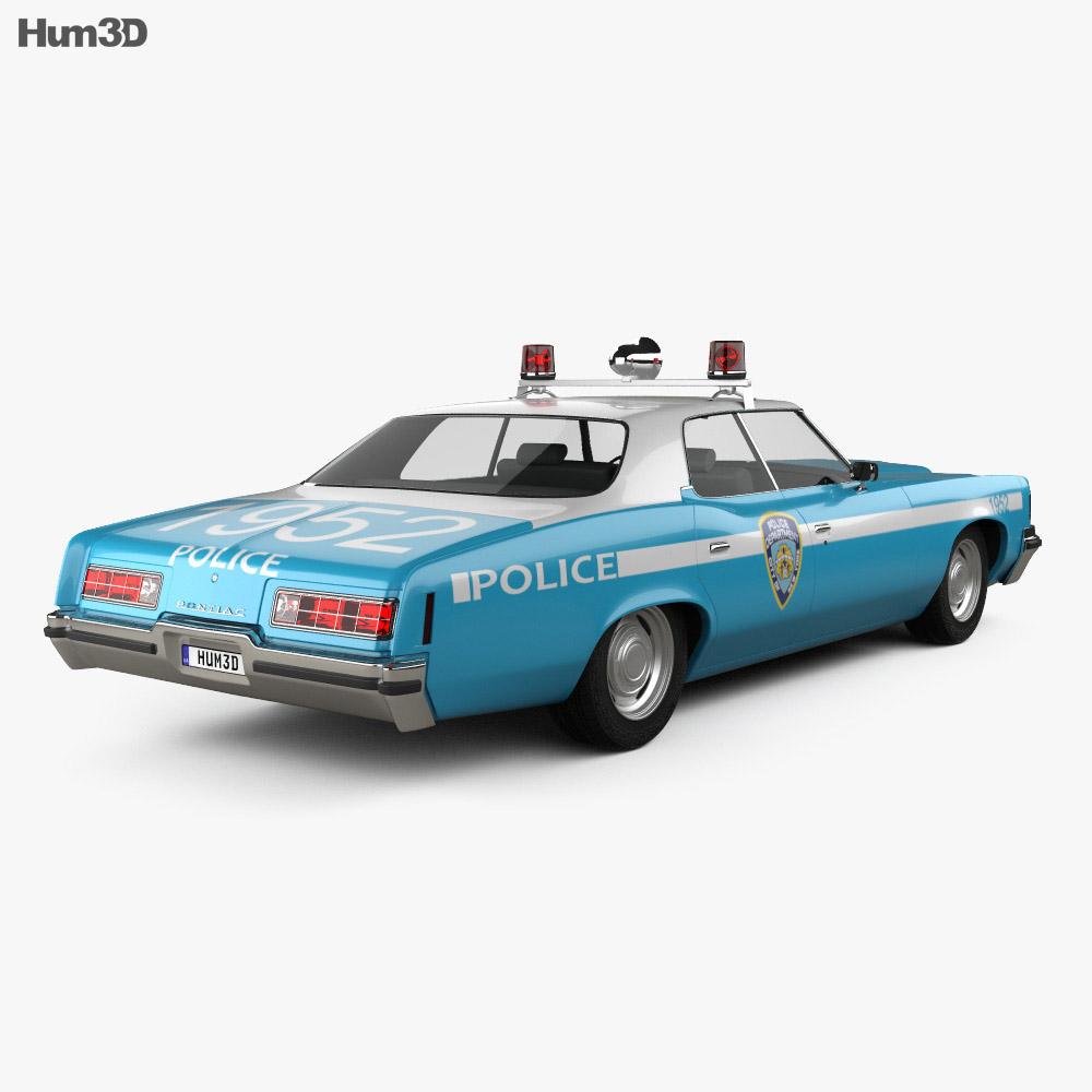 Pontiac Catalina Police 1972 3d model back view