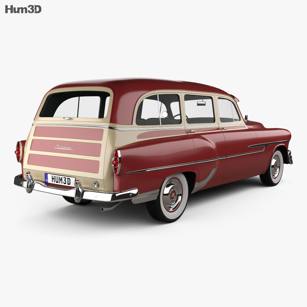 Pontiac Chieftain Deluxe Station Wagon 1953 3d model