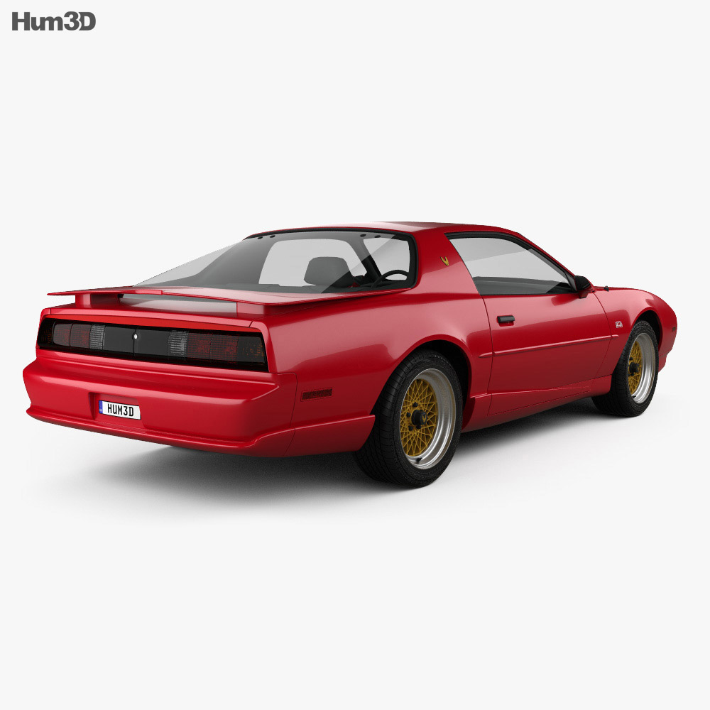 Pontiac Firebird Trans Am GTA 1991 3d model