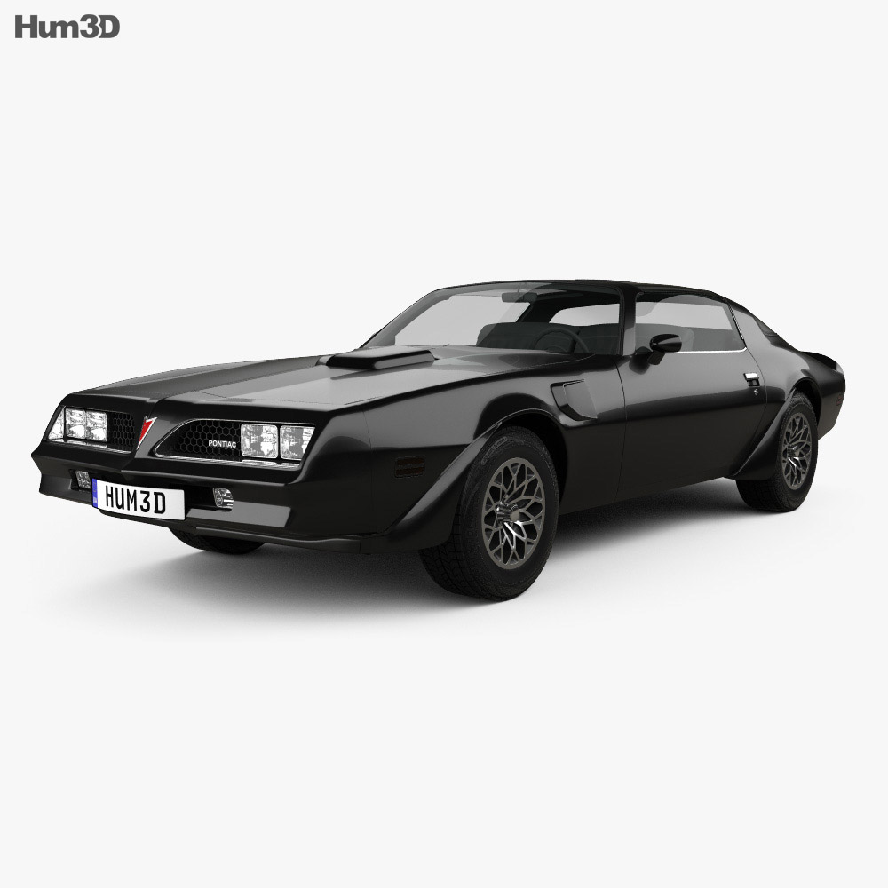 Pontiac Firebird Trans Am 1977 3d model