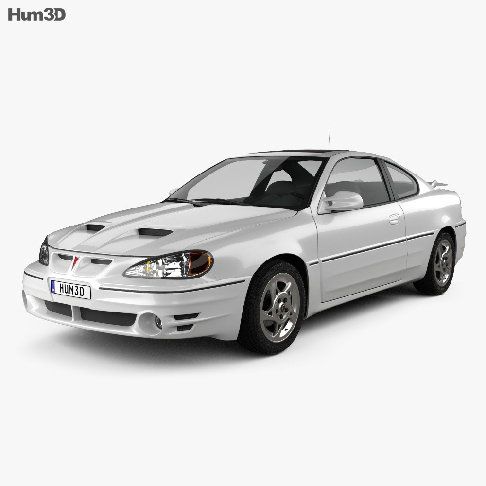 Pontiac Grand Am coupe 1999 3d model