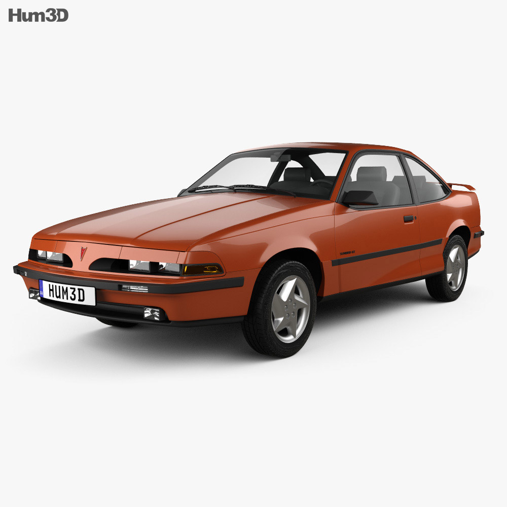 Pontiac Sunbird GT Coupe 1986 3d model