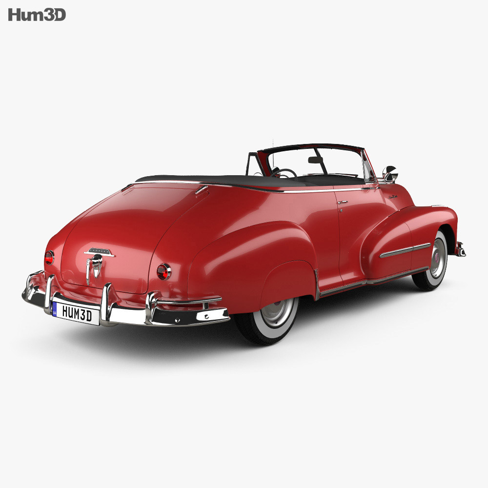 Pontiac Torpedo Eight Deluxe Convertible 1948 3d model