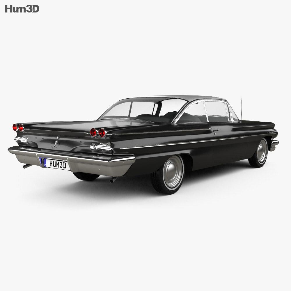 Pontiac Ventura coupe 1960 3d model back view