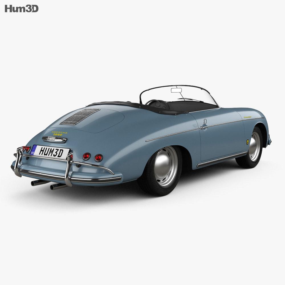 Porsche 356A 1600 Super Speedster 1955 3d model