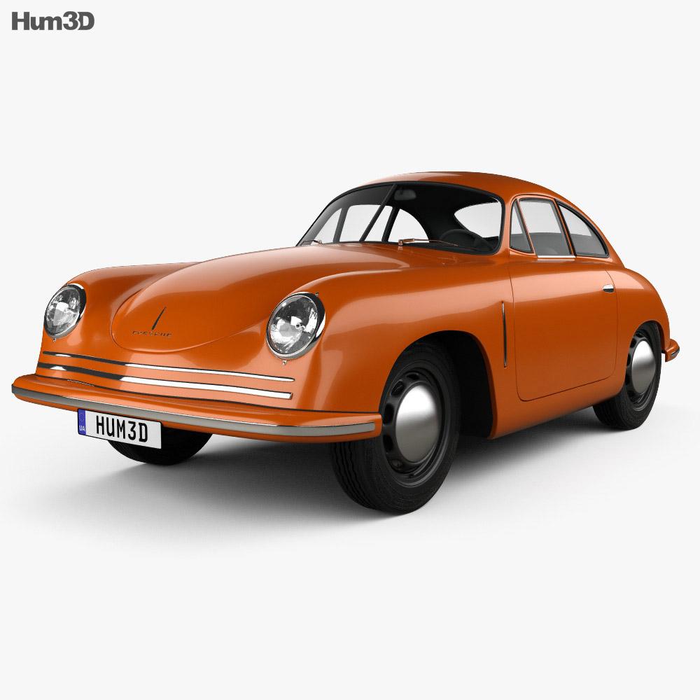 3D model of Porsche 356 Coupe 1948