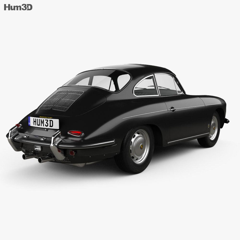 Porsche 356B Carrera 2 Coupe 1962 3d model