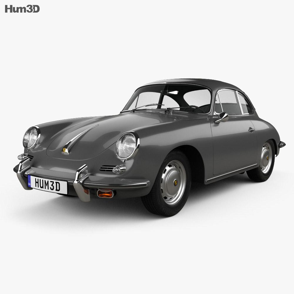 3D model of Porsche 356 SC Coupe 1963