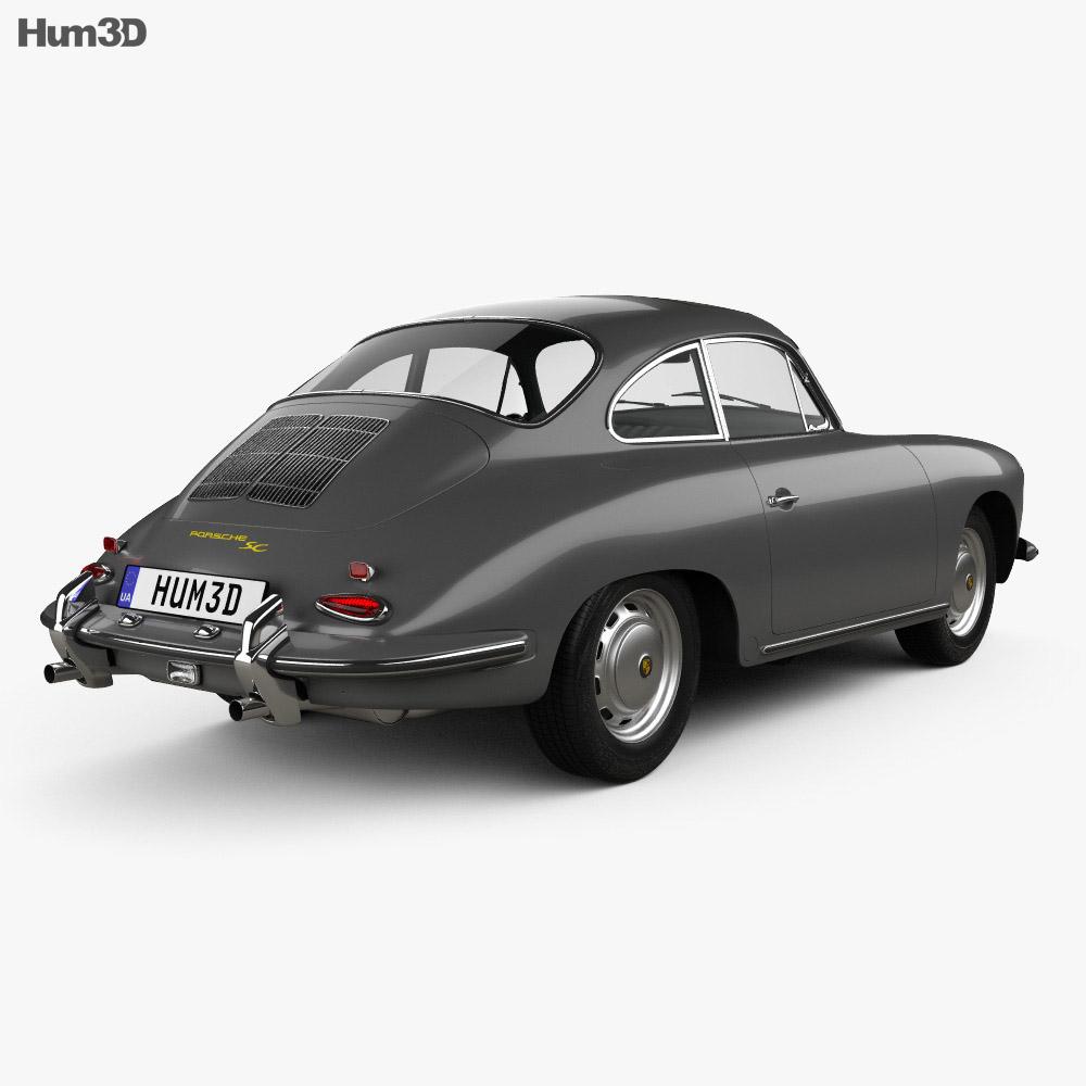 Porsche 356 SC Coupe 1963 3d model
