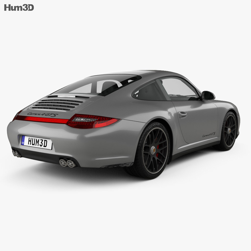 Porsche 911 Carrera 4GTS Coupe 2011 3d model